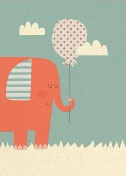 Postkaart - Paper & Cloth - Elephant