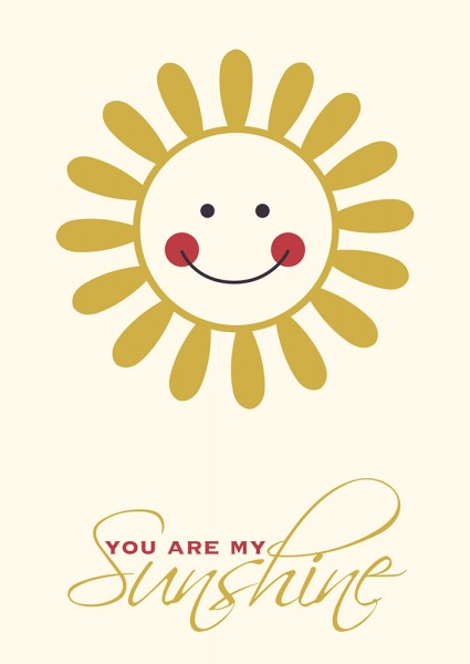 Postkaart You Are My Sunshine Papiermier
