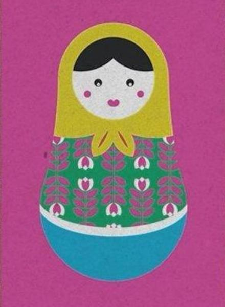 Postkaart - Good Life - Russian doll