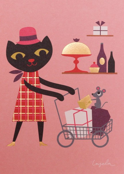 Wenskaart - Ingela P Arrhenius - Shopping for Presents
