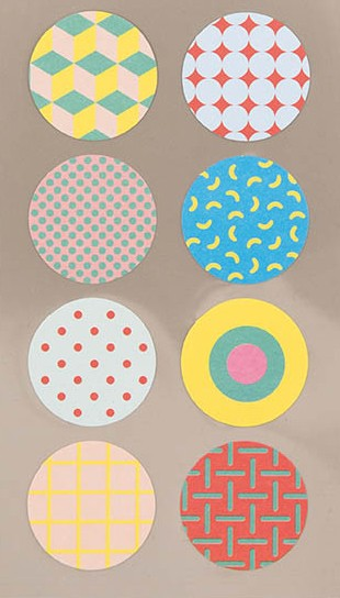 Stickerset - Cirkel 90's pattern
