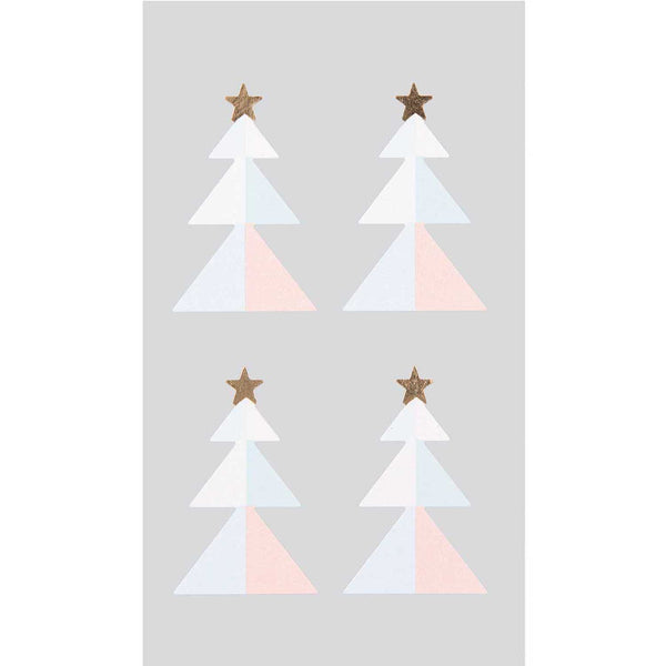 Stickerset - kerstboom pastel