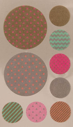 Stickerset washi - Cirkel goud