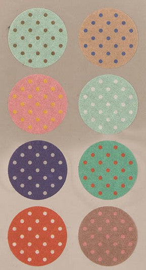 Stickerset washi - Cirkel met dots