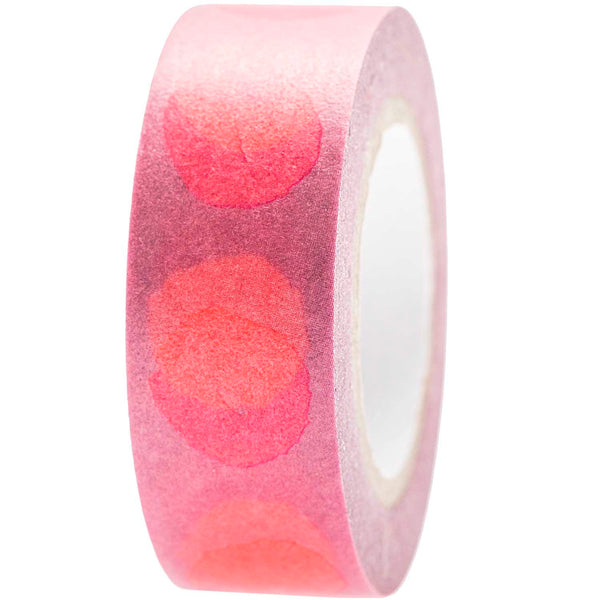 Masking tape 15mm - Crafted Nature - Spot pink