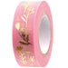 Masking tape 15mm - Scatter flow - pink