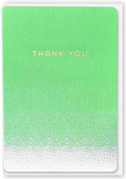 Wenskaart - Thank You - Jade dot