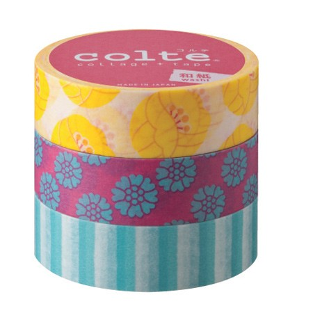 Masking tape 15mm - Tulip Yellow - set van 3