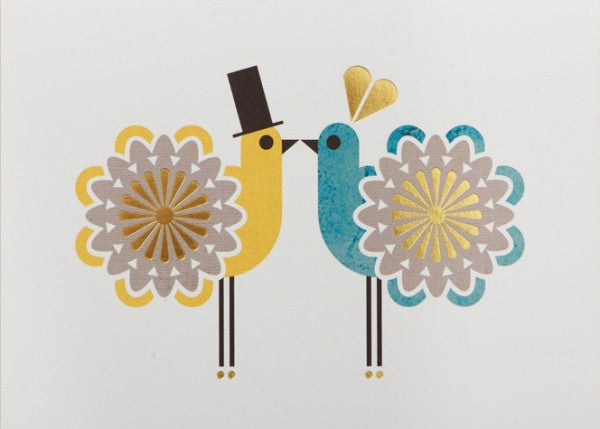 Postkaart - Two Love Birds