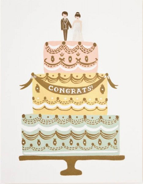 Wenskaart - Rifle Paper Co - Wedding Cake