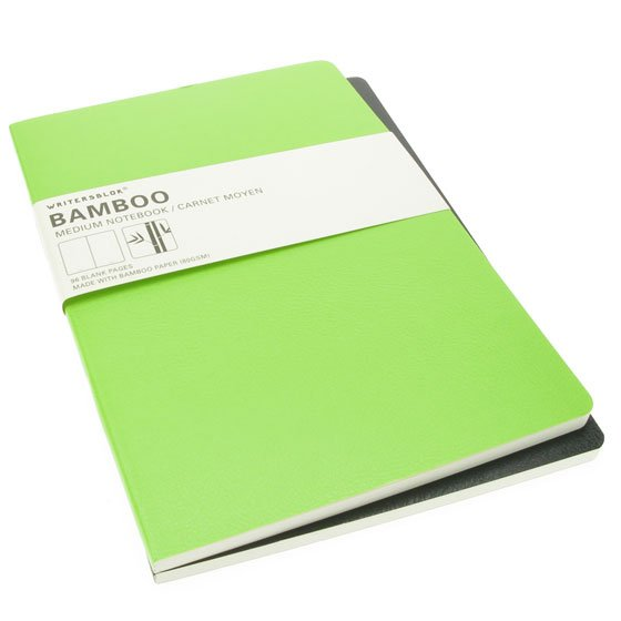 Writersblok Bamboo medium - set van 2 gelinieerd