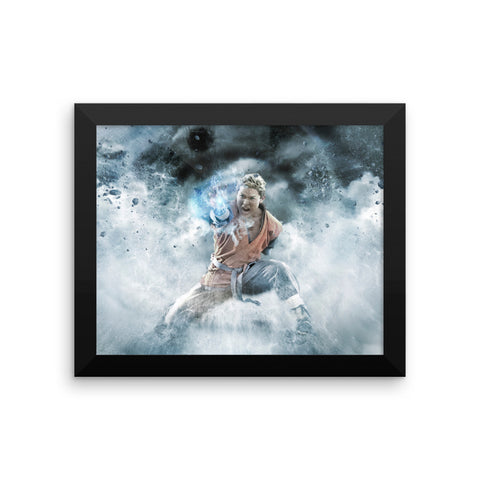 Dragon Ball Z: Light of Hope Framed Print - Gohan Ki Blast