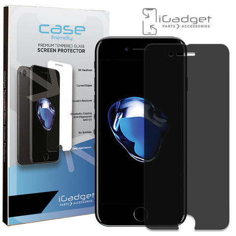 iPhone 7 Plus/8 Plus Baseus Back Glass Premium Tempered Glass Screen Protector - Black