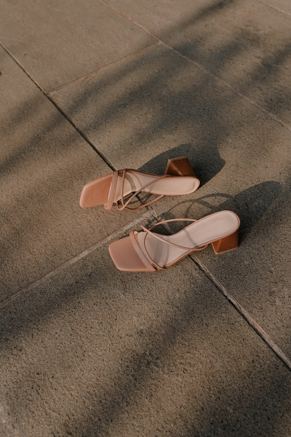 Lais Heels in Pink Sand