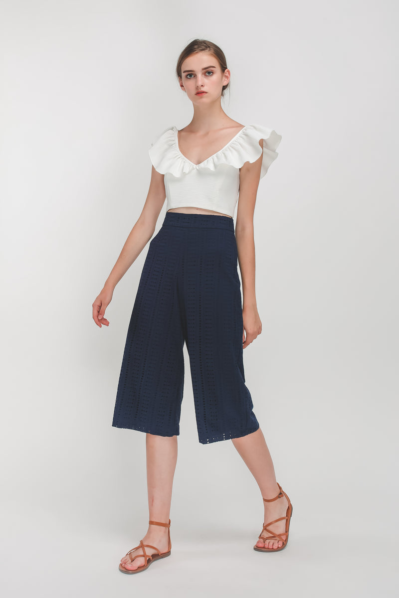 Crochet Culottes In Navy Blue