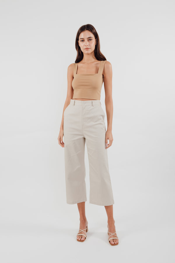 Cropped Culottes in Ecru