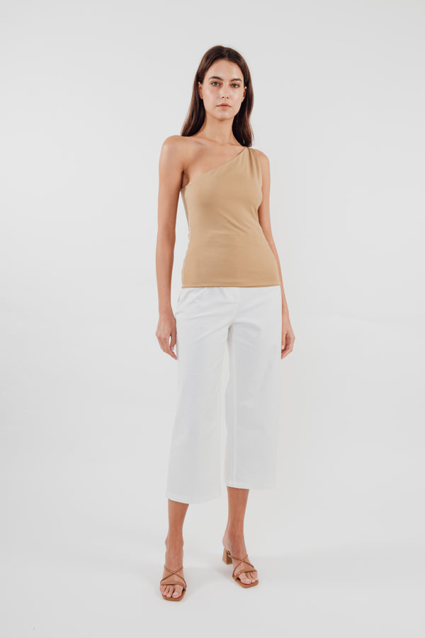 Sleeveless Toga Top in Camel