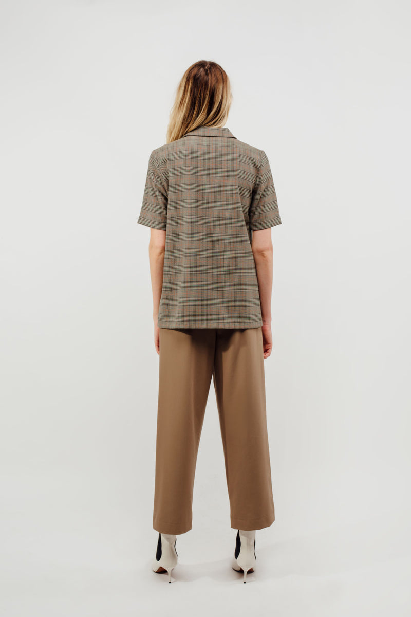 Camp Shirt With Sash In Multi Checked