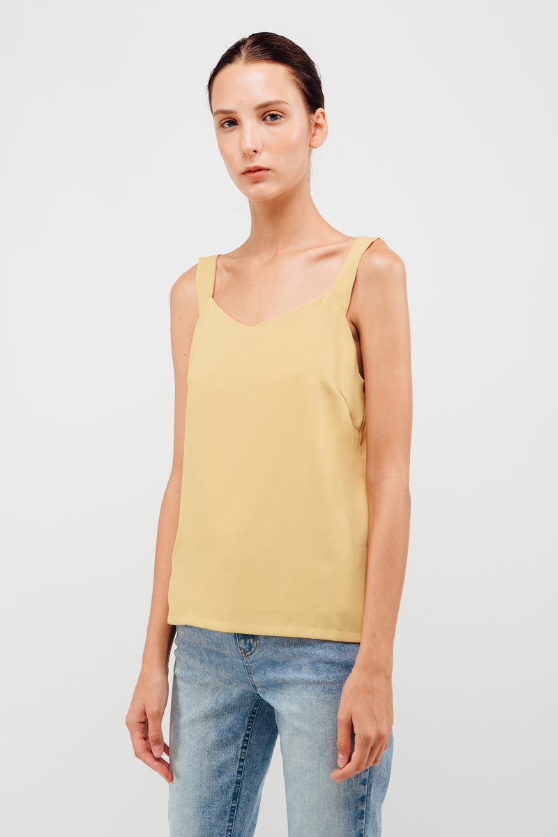 Swing Strap V-neck Camisole In Daffodil