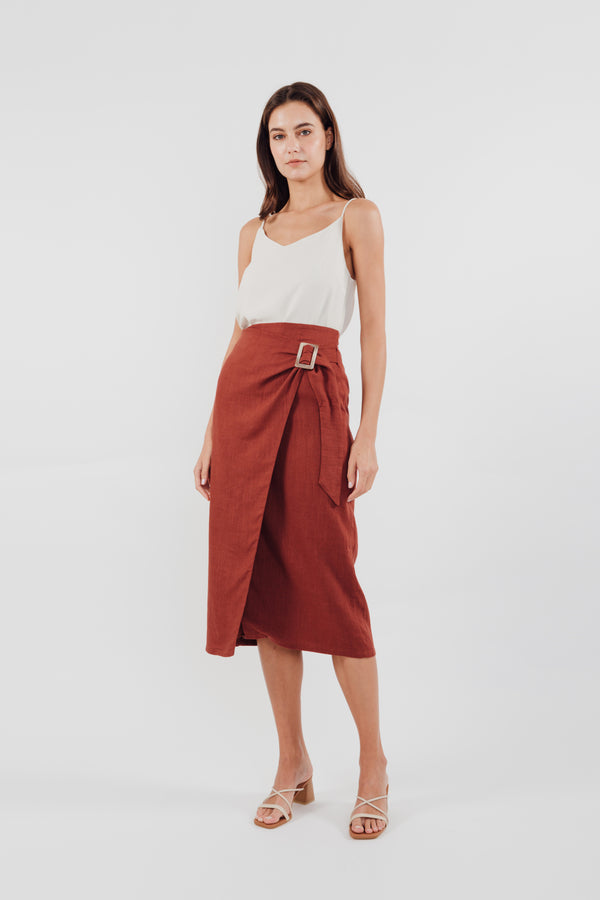 Wrap Skirt in Rust