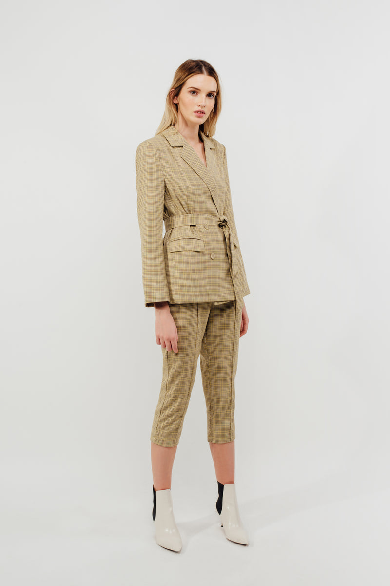 Classic Relaxed Fit Blazer in Tuscany Checked