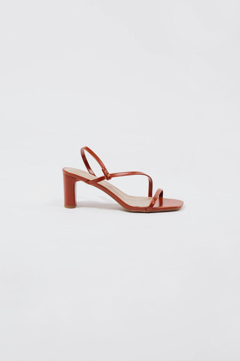 Faye Heels in Burnt Orange