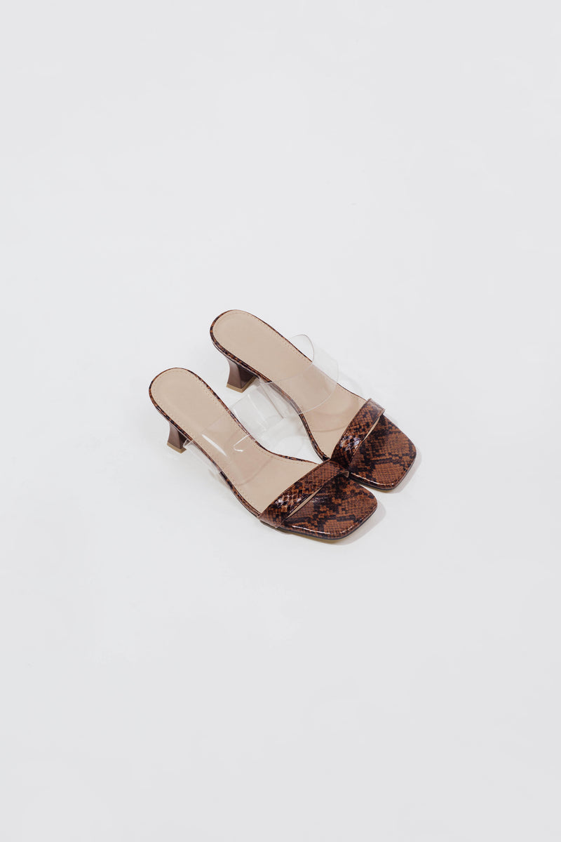 Natalie Heels in Brown Snake