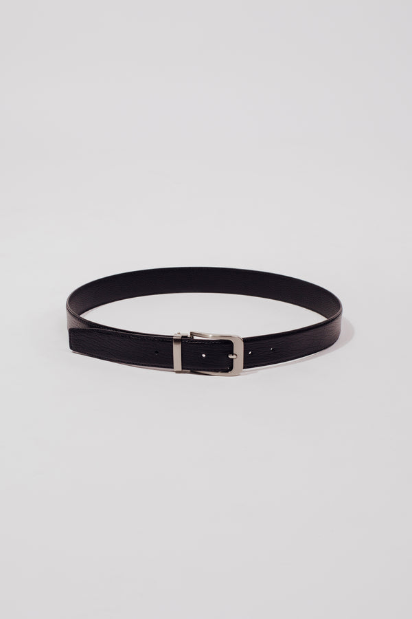 The Theo Belt In Textured Black - Unisex