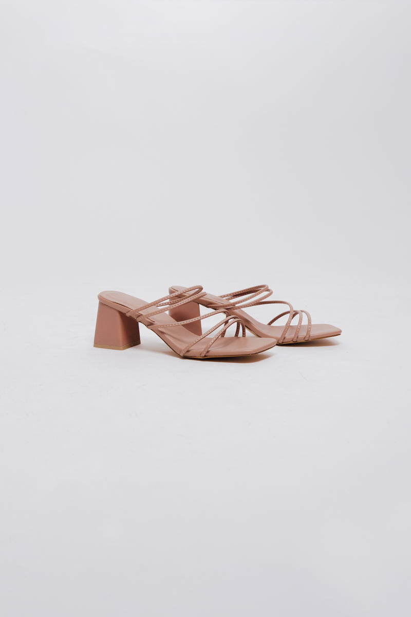 Maya Heels in Rose Nude