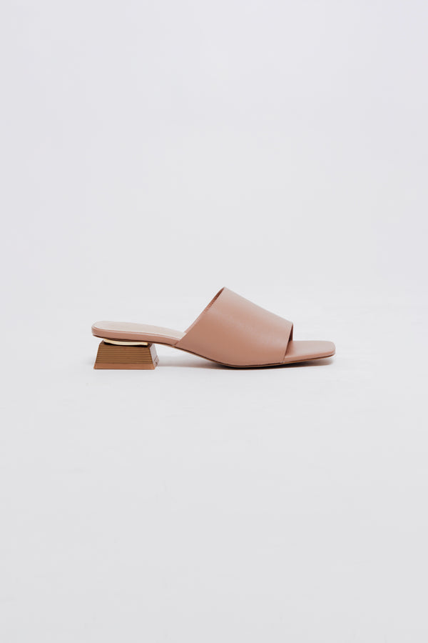 Ami Mules in Rose Nude