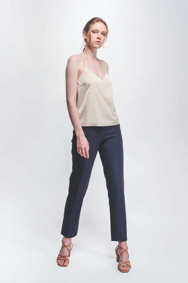 V-neck Camisole In Cream