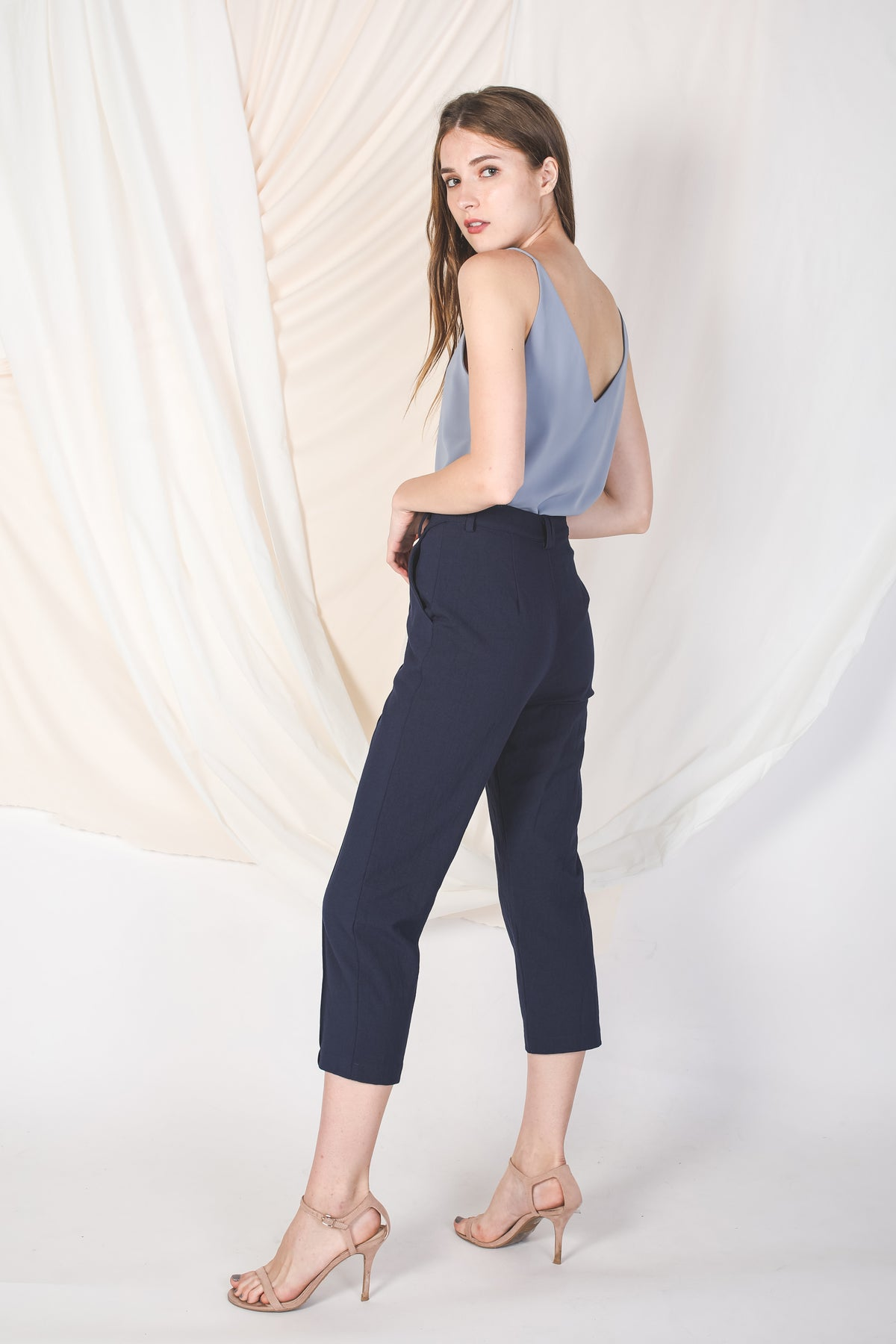 Tailored Pants in Navy