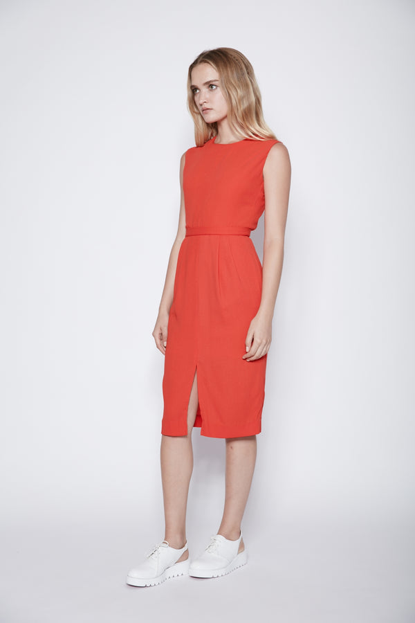 Back Cut-out Midi Dress