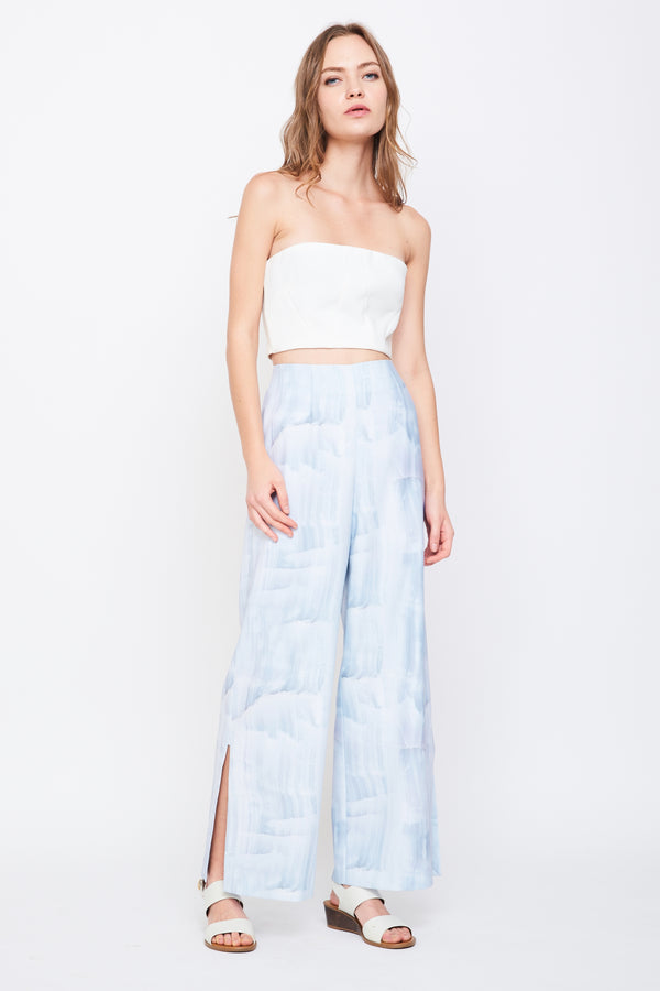 Slit Wide Leg Pants