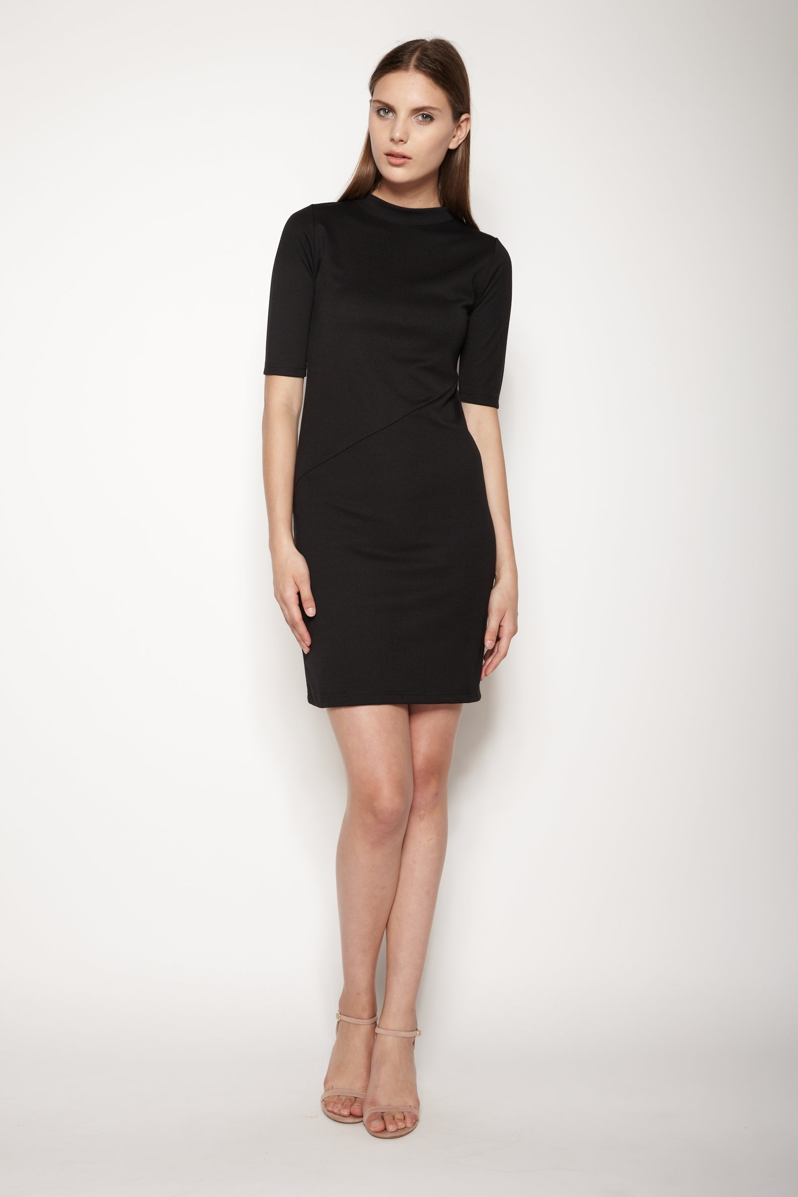 Basic Jersey Dress In Black