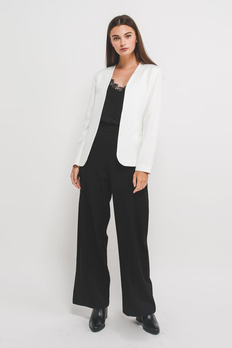 Classic Tailored Blazer In White