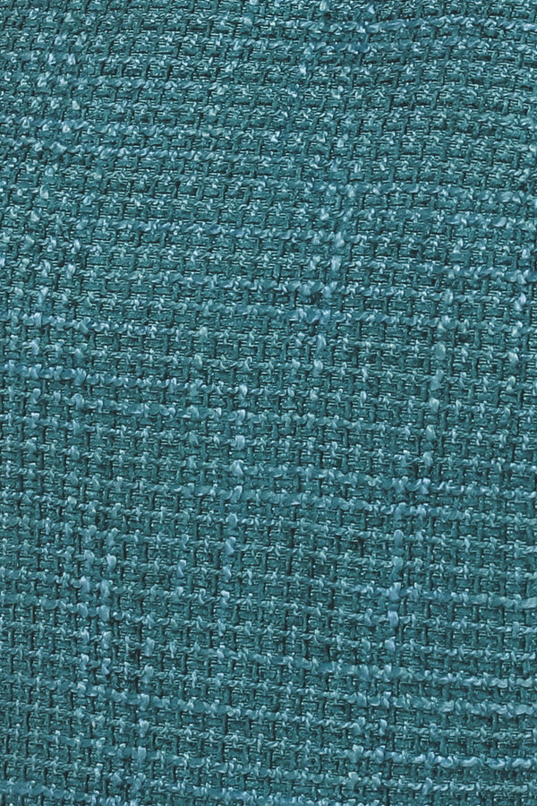 Tweed Sleevless Midi Dress In Teal