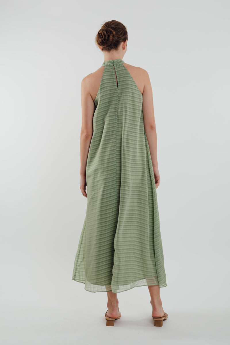 High Neck Maxi Dress in Sage