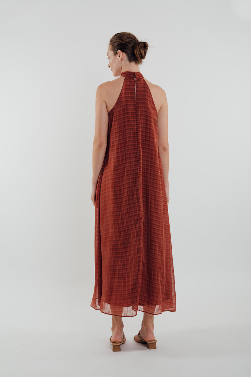 High Neck Maxi Dress in Amber