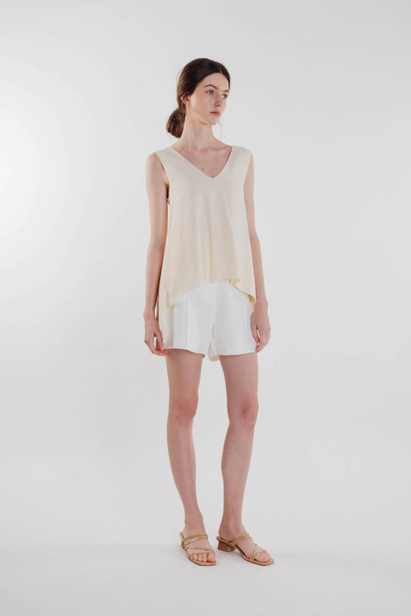 Two-way Asymmetrical Top in Soft Yellow