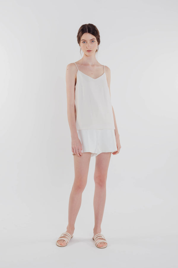 V-neck Camisole in Pearl