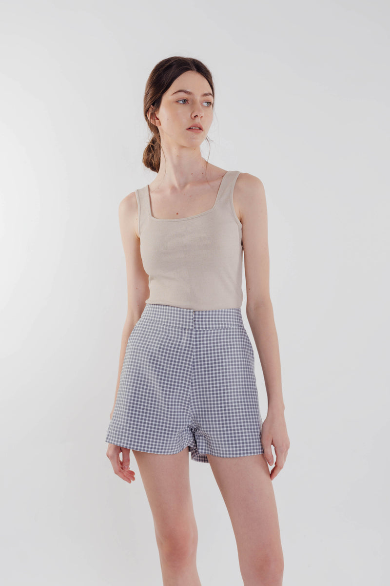 Gingham Shorts in Sky