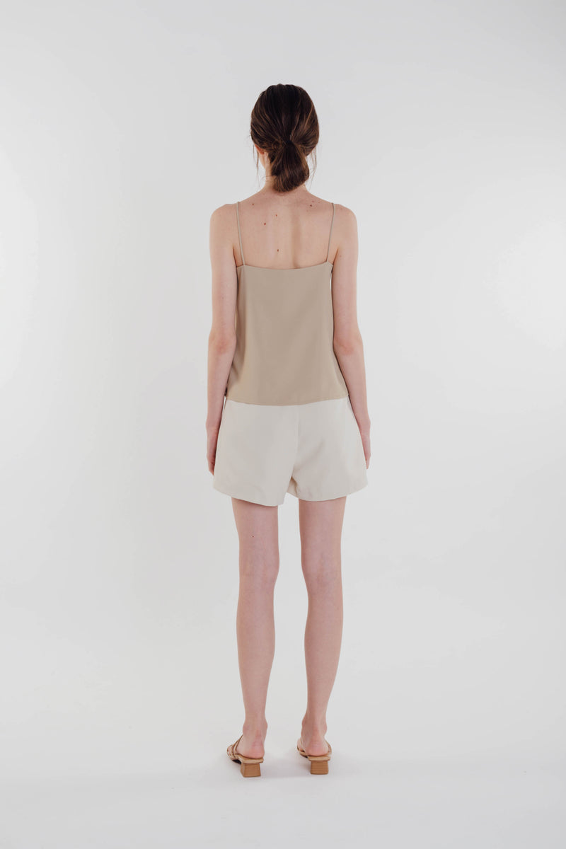 V-neck Camisole in Tan