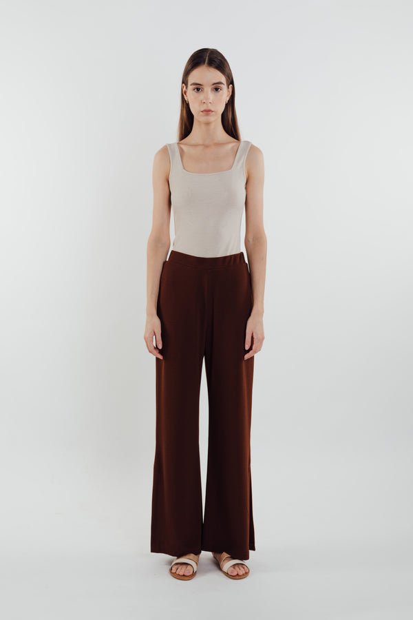 Knit Pants in Brown