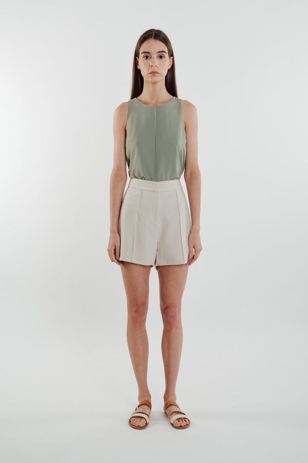 Front Stitchline Tank Top in Sage