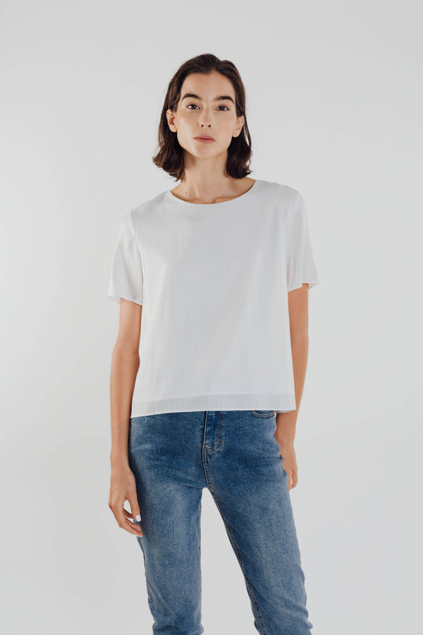 Basic Shift Top in White