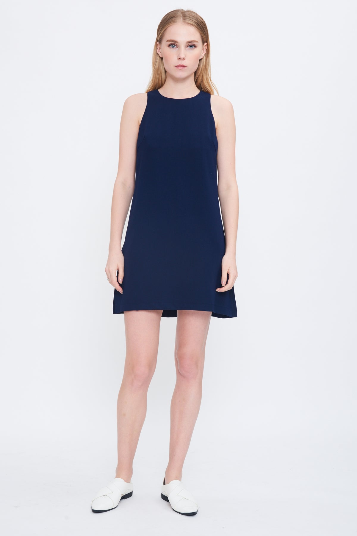 Playsuit Dress in Navy