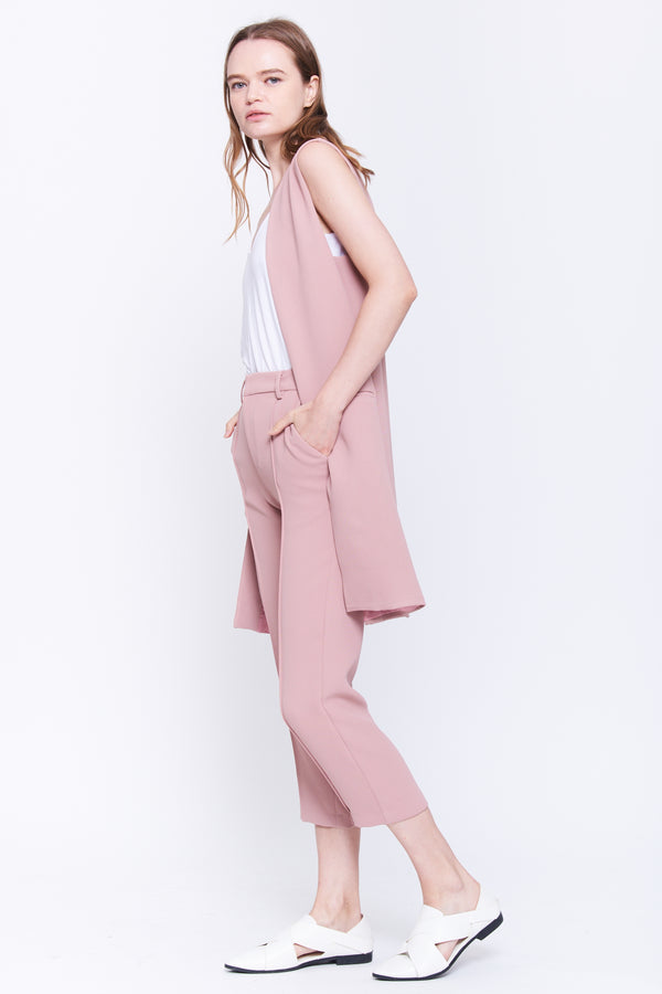 Classic Tailored Vest In Blush