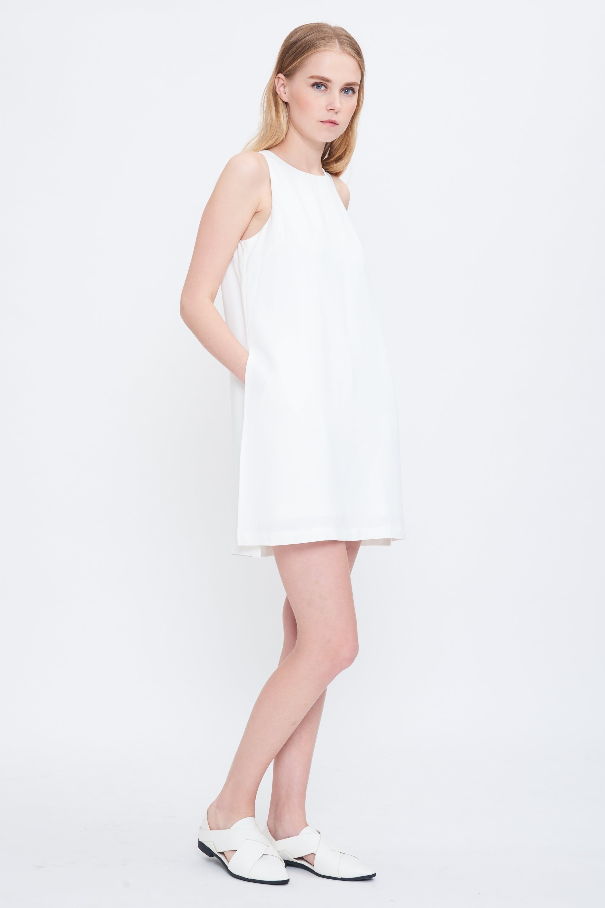 Playsuit Dress In White
