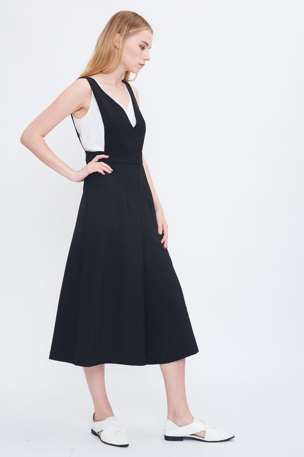 Bareback Culotte Jumpsuit In Black